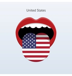 United States language Abstract human tongue vector