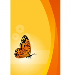 vector floral background with butterfly vector image