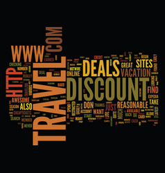 you too can find the best discount travel deals vector image
