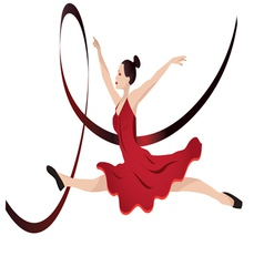 young woman dancing vector image