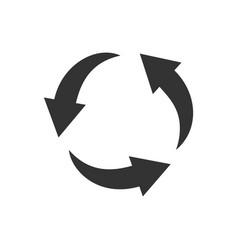 zero waste and reuse symbol vector image