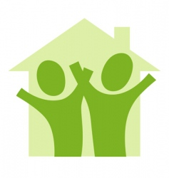 couple in house vector image vector image