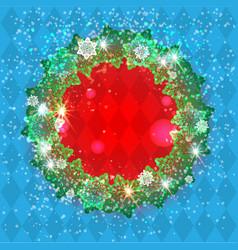 Holiday winter season frame vector
