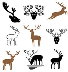 logo icons deer vector image vector image