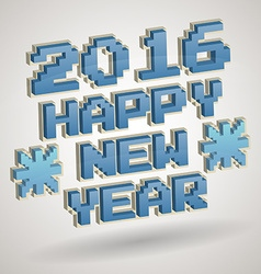 2016 new year design vector image