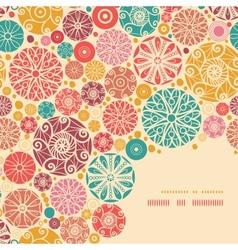 Abstract decorative circles corner pattern vector image