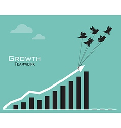Birds and business graph vector image
