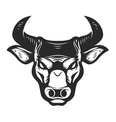 bull head icon isolated on white background vector image vector image