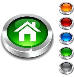 Home 3d button vector image