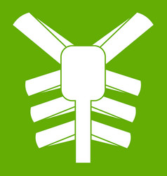 human thorax icon green vector image vector image