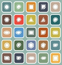 Label flat icons on blue background vector image
