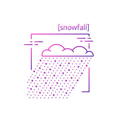 line icons with symbol weather isolated snow vector image vector image