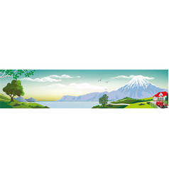 realistic view of nature vector image vector image