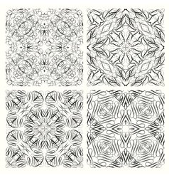 Set of seamless pattern in retro style vector image vector image