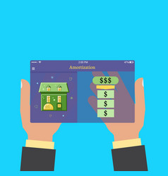 amortization when buying a house or car vector image