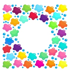 Round frame with colored stains vector image