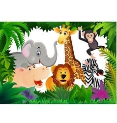 safari animal cartoon vector image vector image