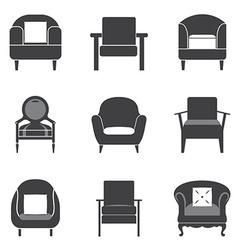 Sofa Icon Set vector image vector image