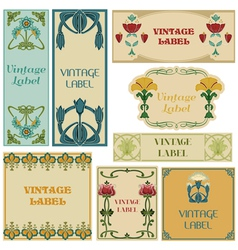 Vintage Style Labels Set vector image vector image