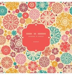 Abstract decorative circles frame seamless pattern vector image vector image