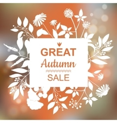 Great Autumn Sale Banner vector image vector image