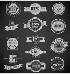 Premium Quality Guarantee and sale Labels vector image