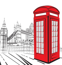 Sketch London City vector image vector image