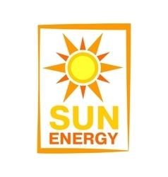 Sun energy icon vector image vector image