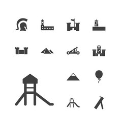 13 history icons vector