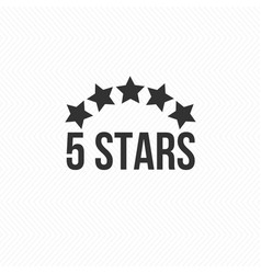 5 star icon isolated badge for website or app vector image