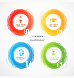 abstract geometric circle shape infographic banner vector image