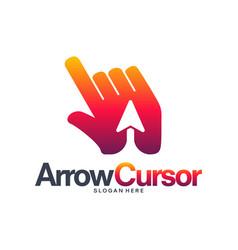 Arrow cursor logo designs concept fast cursor vector