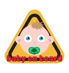 Baby on board sign yellow background vector