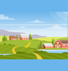 beautiful countryside vector image