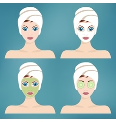 Beauty and spa procedures vector image