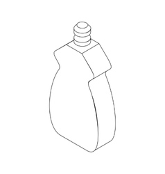 Bottle for dishwashing icon isometric 3d style vector image