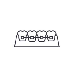 braces line icon concept braces linear vector image