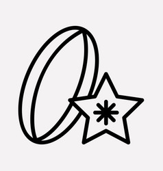 Carambola icon line element vector