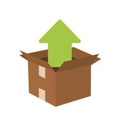 cardboard box icon image vector image