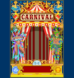 Carnival gold and red poster vector
