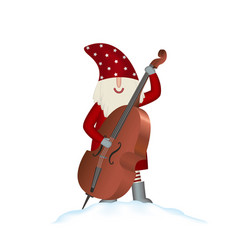 christmas card santa claus on white vector image