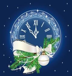 Christmas clock vector