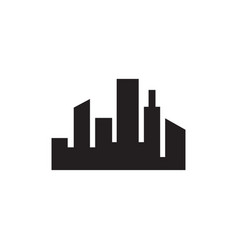 cityscape icon in flat style for apps ui websites vector image