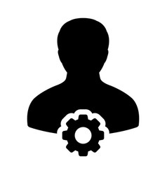 Cogwheel for settings and configuration icon male vector