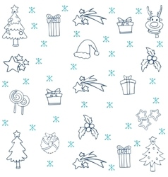Collection stock christmas set doodle vector