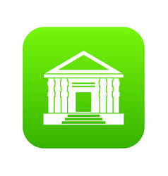 colonnade icon digital green vector image