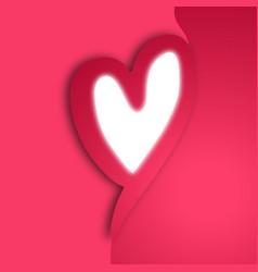 creative heart vector image vector image