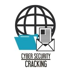 Cyber security system envelope design vector