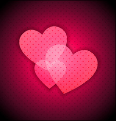 Dark Valentines background vector image