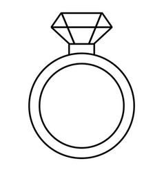 diamond engagement ring icon outline style vector image
